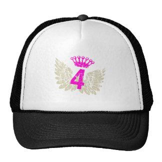 #4 Raspberry Wings Mesh Hat