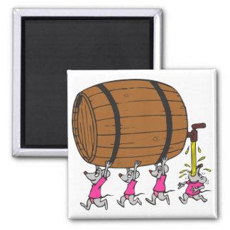 4 ratones borrachos imán cuadrado