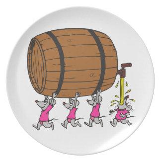 4 ratones borrachos platos para fiestas