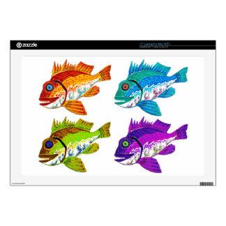 4 regalos del arte abstracto de los pescados skins para 43,2cm portátiles