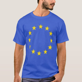 4 Royal blue EU stars front/ 28 nations back T-Shirt