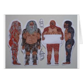 4 Sagittal crest bigfoot, Greeting Card