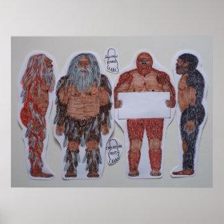 4 Sagittal crest giants Posters
