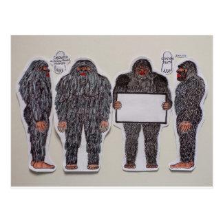 4 Sasquatch Postcard
