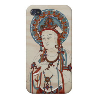 4 - Scripture Buddha Doug Fir Background iPhone 4/4S Cover