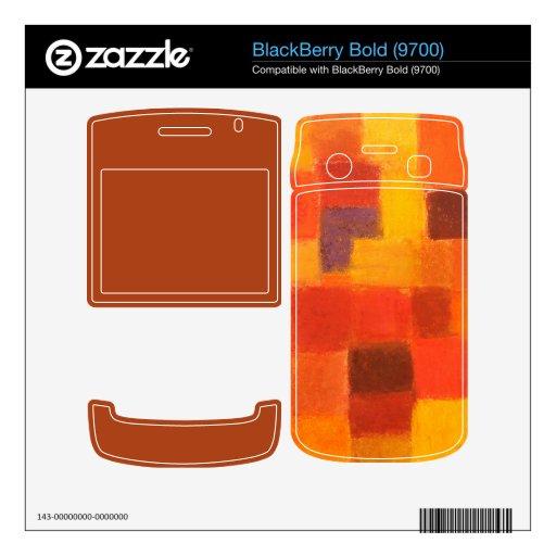 4 Seasons Autumn BlackBerry Bold (9700) Skin Decal For BlackBerry