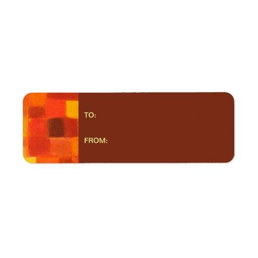 4 Seasons Autumn pueblo Gift Tag Sticker Return Address Labels