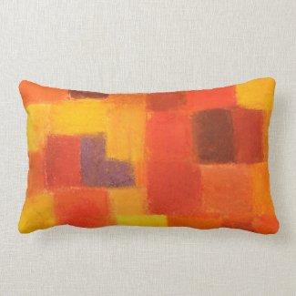 4 Seasons Autumn pueblo Throw Pillow mojo_throwpillow
