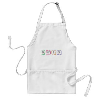 4 seasons in Japanese - black text Adult Apron