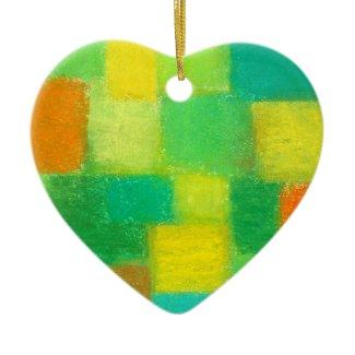 4 Seasons Spring Heart Ornament zazzle_ornament