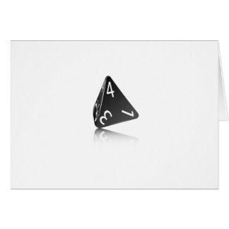 4-sided Die Card
