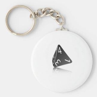4-sided Die Keychain