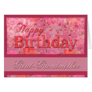 4 sides and poem Birthday Great-Grandma XXL 18x24 Card