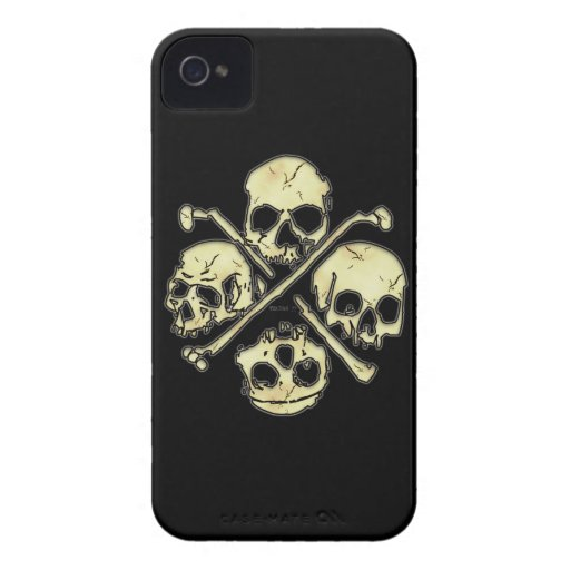 4 Skulls iphone 4 barely there Case-Mate iPhone 4 Case