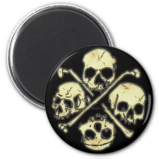 4 Skulls Magnets