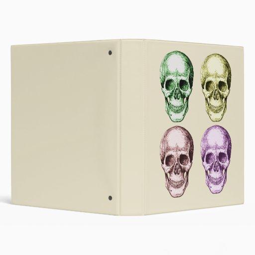 4 Skulls Vinyl Binder