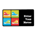 4 Sneakers Personalized Shipping Labels