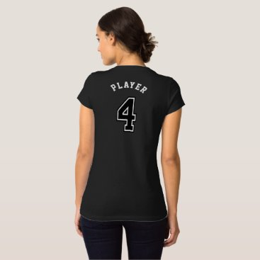 4 Sports Jersey Number T-Shirt