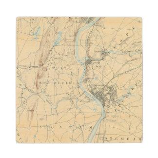 4 Springfield sheet Wooden Coaster