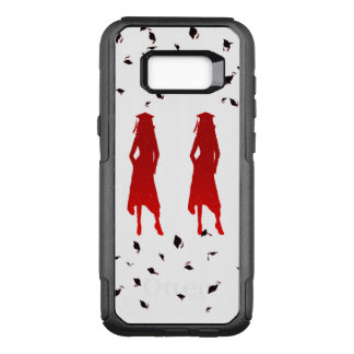 4 Spunky Female Grad Silhouttes in Bright Red OtterBox Commuter Samsung Galaxy S8+ Case