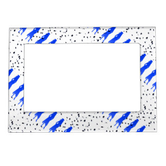4 Spunky Grad Girl Silhouettes in Blue Magnetic Picture Frame