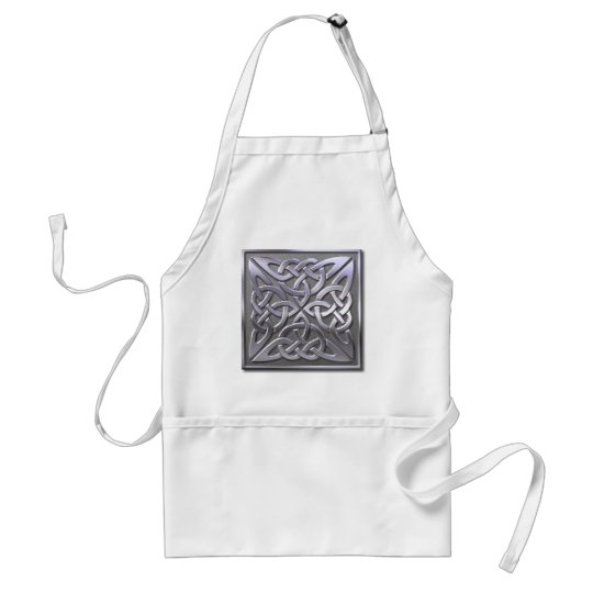 4 square-silver adult apron