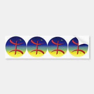4 stickers Berber automobile carossery amazigh