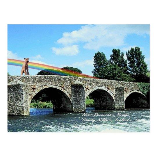 4. Stone Bridge Crossing River  Kildare Ireland Postcard