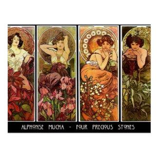 4 stones A. Mucha Postcard Postcards