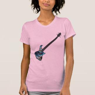 4 String Fretless Bass Guitar-blue T-Shirt