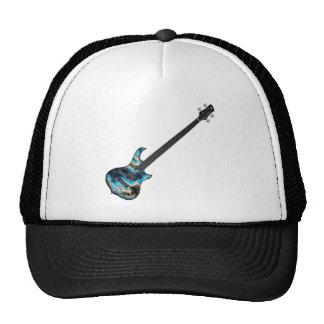 4 String Fretless Bass Guitar-blue Trucker Hat