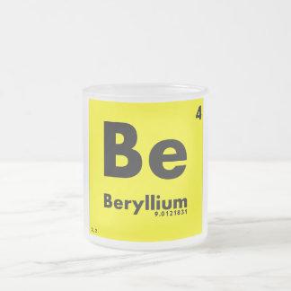 4 tabla periódica del berilio | de elementos taza de cristal