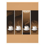 4 tazas de café en vector flyer a todo color