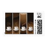4 tazas de café en vector franqueo