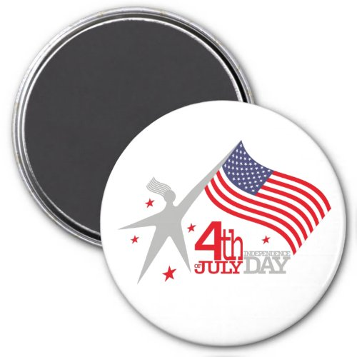 4 th JULY INDEPENDENCE Day Magnet