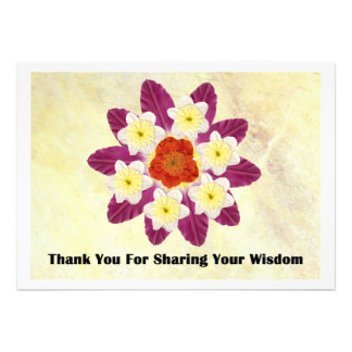 4 Thank You for sharing your wisdom Personalized Invitation