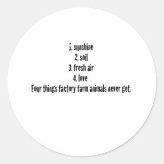 4 Things Classic Round Sticker