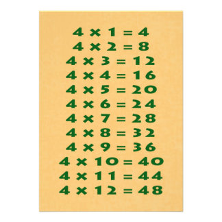 #4 Times Table Collectible Card Announcements