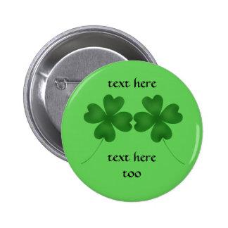4 tréboles de la hoja para el día de St Patrick Pin