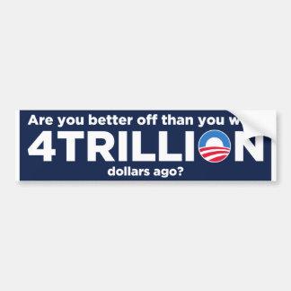 4 trillón dólares pegatina de parachoque