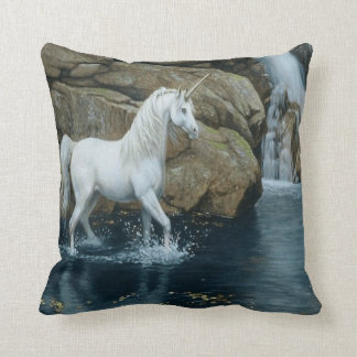 #4-Unicorn and Waterfall Throw Pillow