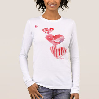 4 Valentine Hearts Tower T-shirt/ Apparel Long Sleeve T-Shirt