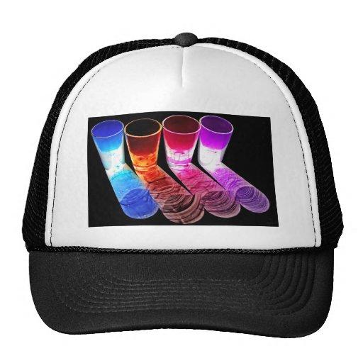 4 vasos de medida coloreados del cóctel - estilo 2 gorras