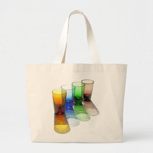 4 vasos de medida coloreados del cóctel - estilo 6 bolsas de mano