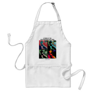 4 Views Of The Bay Area (Satellite Imagery) Adult Apron
