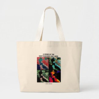 4 Views Of The Bay Area (Satellite Imagery) Canvas Bag