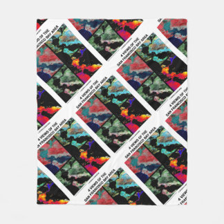 4 Views Of The Bay Area Satellite Imagery Earth Fleece Blanket