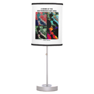 4 Views Of The Bay Area Satellite Imagery Earth Table Lamp