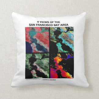 4 Views Of The Bay Area Satellite Imagery Earth Throw Pillow