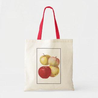 4 vintage apples illustrated bag